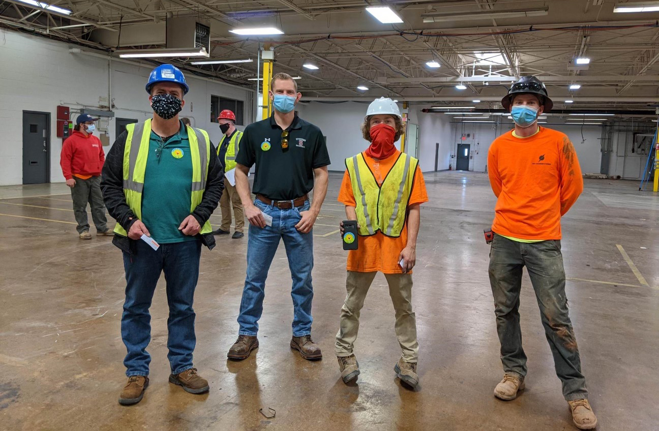Valley Road construction workers get vaccinated while at work