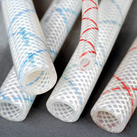 COLOR TRACER BRAID SILICONE HOSE